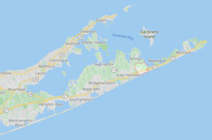 Map of Amagansett, NY