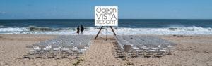 Wedding on Amagansett beach at ocean Vista Resort