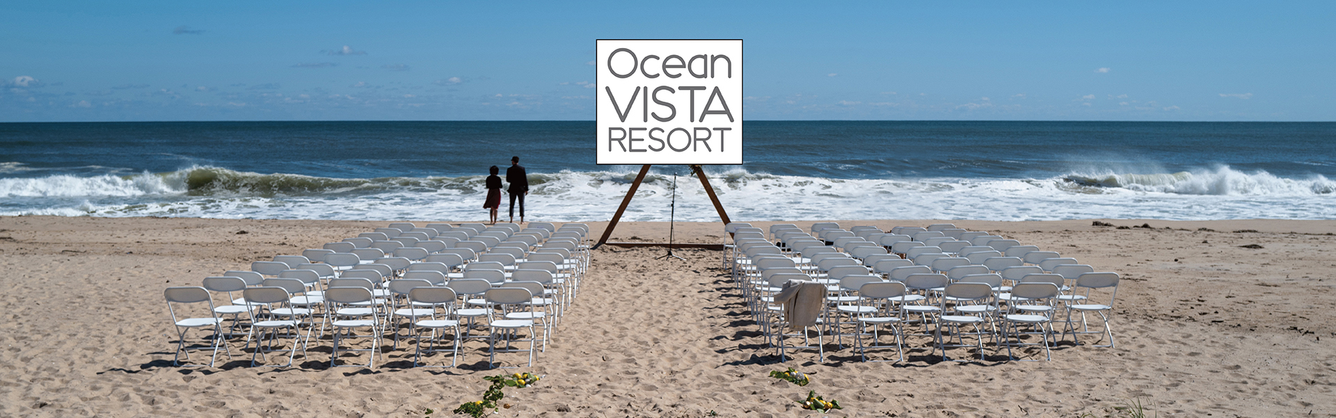 Wedding on Amagansett beach at ocean Vista Resort